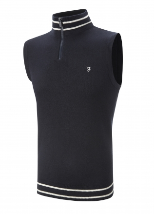 Farah Sleeveless 1/4 Zip Slipover