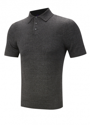 Henbury Knitted Short Sleeved Polo