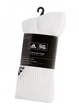 Adidas Golf Two Pack Crew Socks