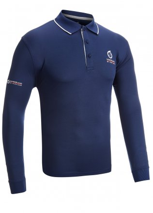 Sunderland L/S Tipped Collar Golf Polo Shirt