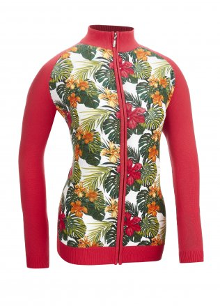 Glenmuir Ladies Arbela Zip Through Printed Golf Cardigan