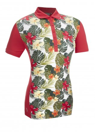 Glenmuir Ladies Formosa Printed Front Panel Polo Shirt