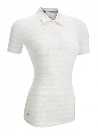 Adidas Ladies Microdot Short Sleeve Polo