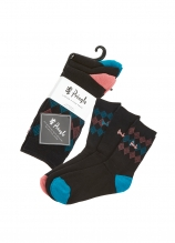 buy Pringle Ladies Mylee Jacquard Socks - 3 Pack