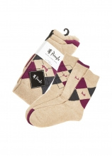 buy Pringle Waverley Argyle Patterned & Plain Socks - 3 Pk