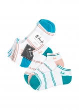 buy Pringle Ladies Johanne Cushioned Trainer Socks - 3 Pack