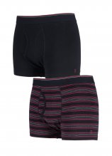 buy Farah 2 Pair Stripe/Plain Trunks