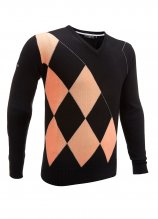 buy Glenmuir V-Neck Offset Argyle Golf Sweater