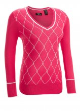 buy Callaway Golf Ladies V-Neck Argyle Sweater