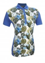 buy Glenmuir Ladies Formosa Printed Front Panel Polo Shirt