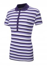buy Puma Ladies Cotton Striped Short Sleeved Polo