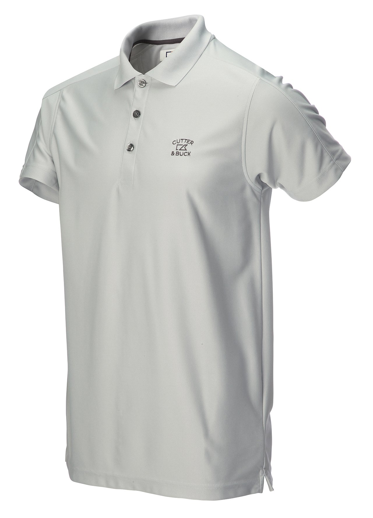 Cutter amp buck drytec genre polo shirt silver xxl ebay for Cutter buck polo shirt size chart