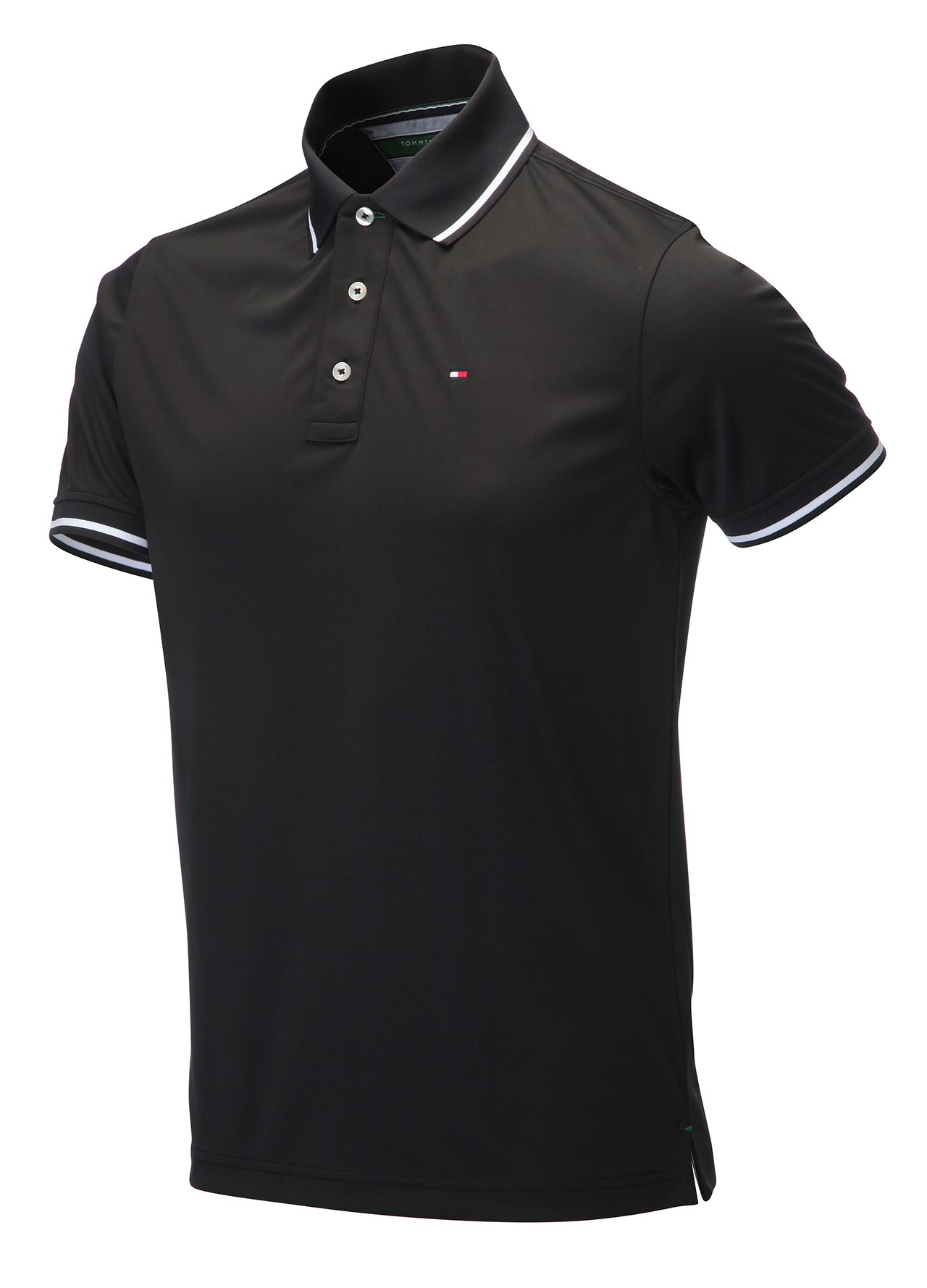 golf clothing shirts black tommy hilfiger golf th tech polo shirt c730 from county golf. Black Bedroom Furniture Sets. Home Design Ideas