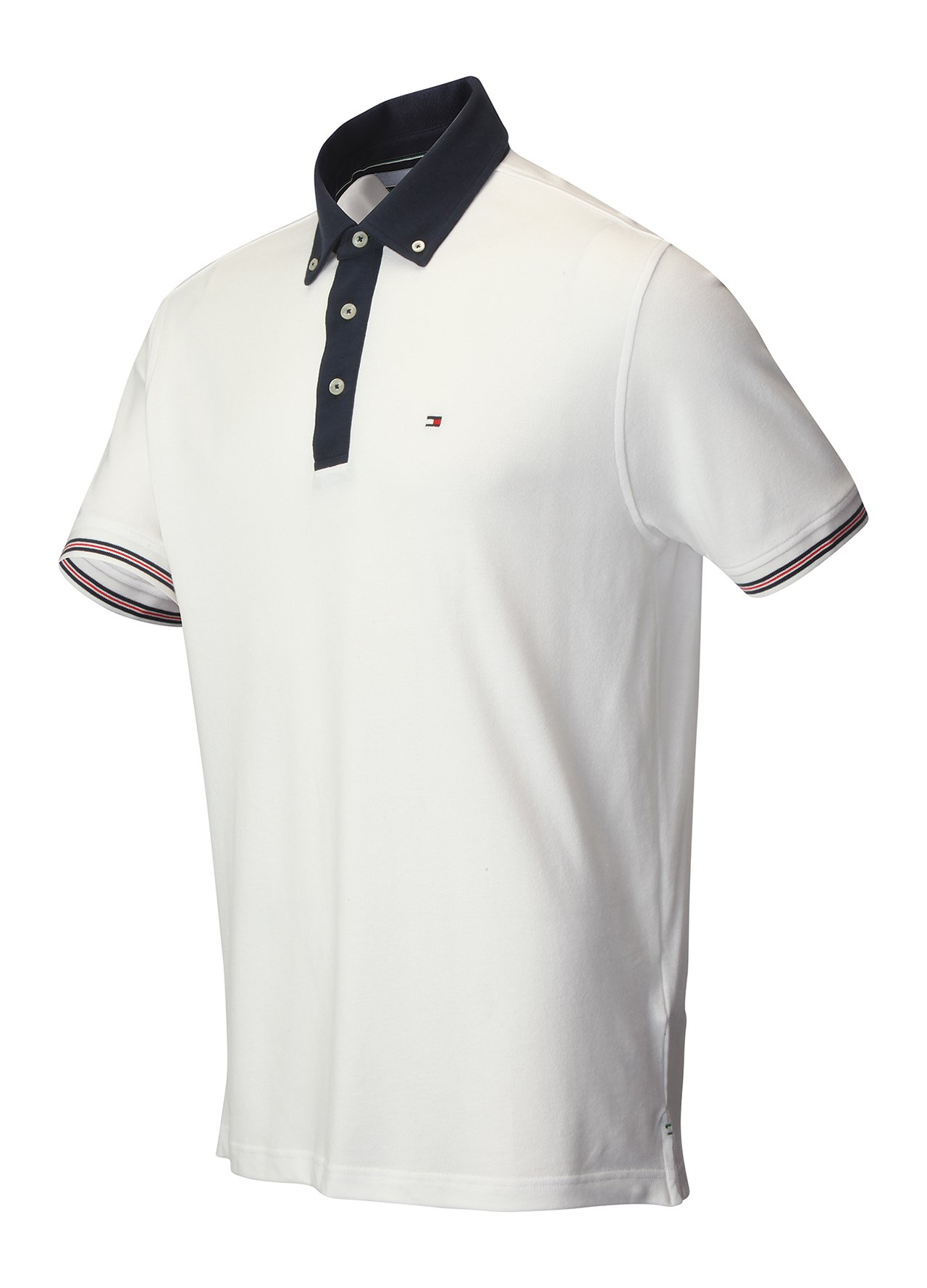 golf clothing shirts white tommy hilfiger contrast