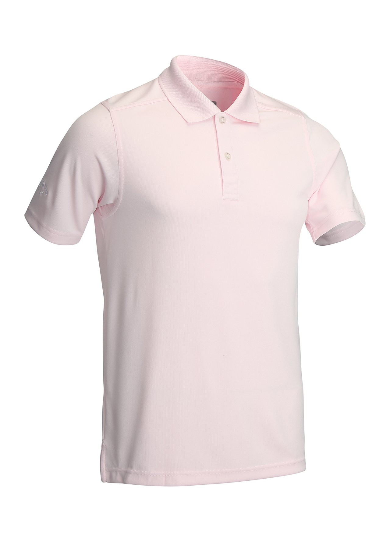 Callaway Mens Golf Textured Solid Polo Shirt Sports Top