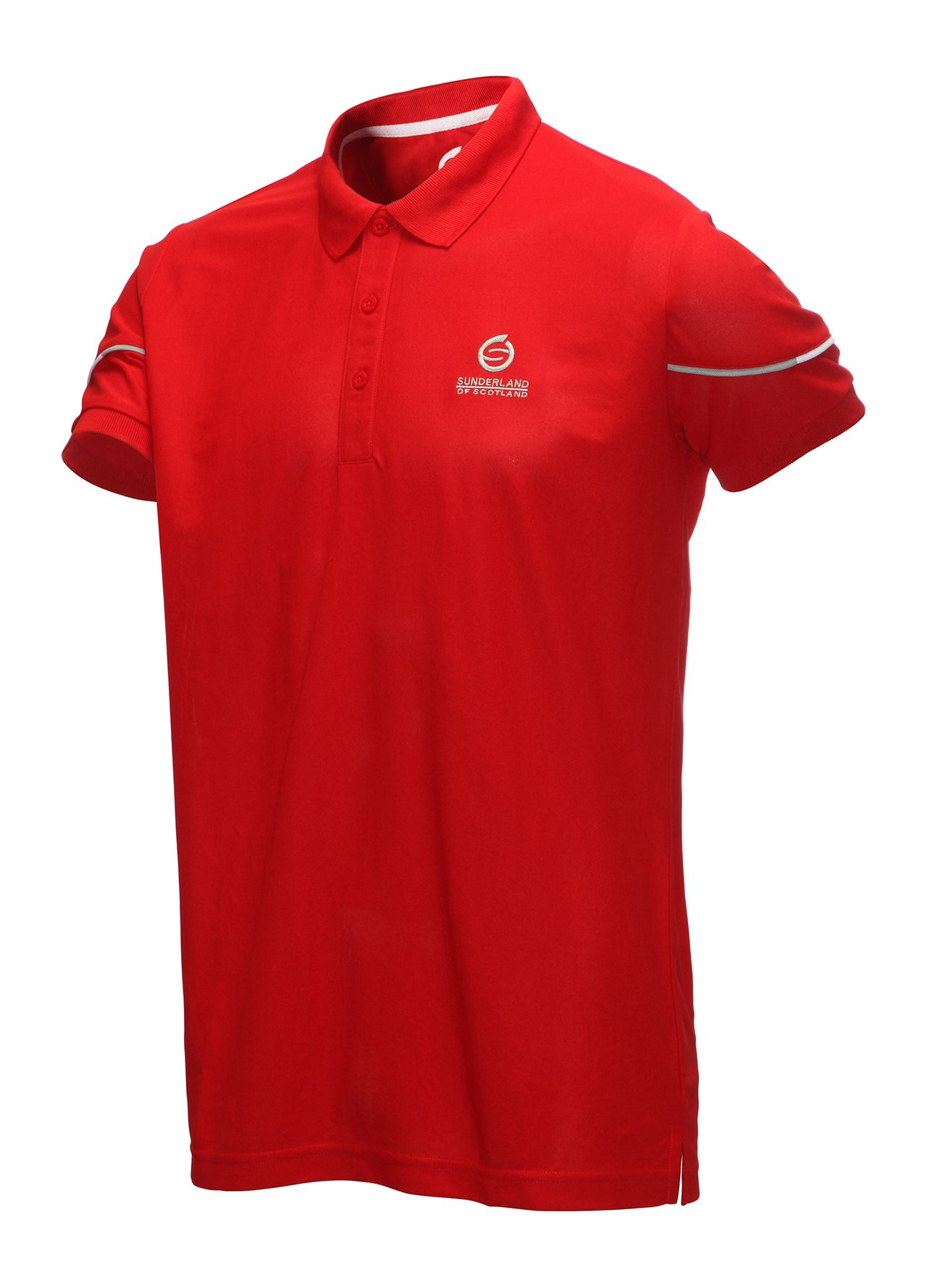 Sunderland solid colour golf polo shirt red extra large ebay