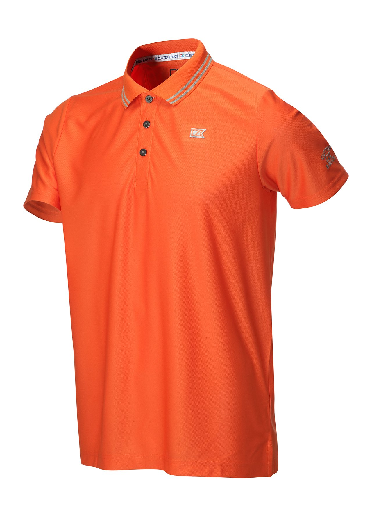 Golf clothing shirts orange cutter buck tipped for Cutter buck polo shirt size chart