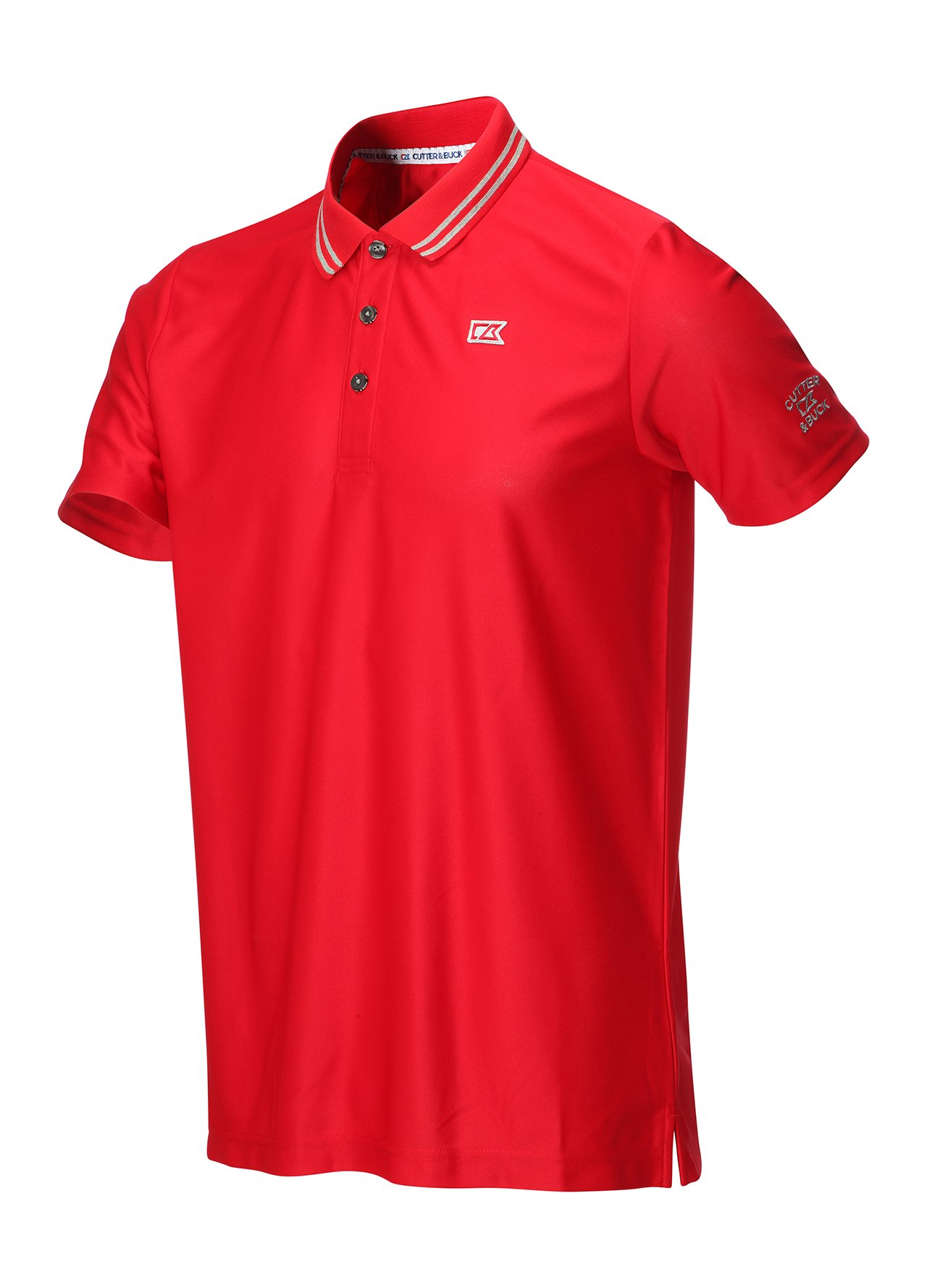 Cutter buck tipped collar dry tec polo shirt red small for Cutter buck polo shirt size chart