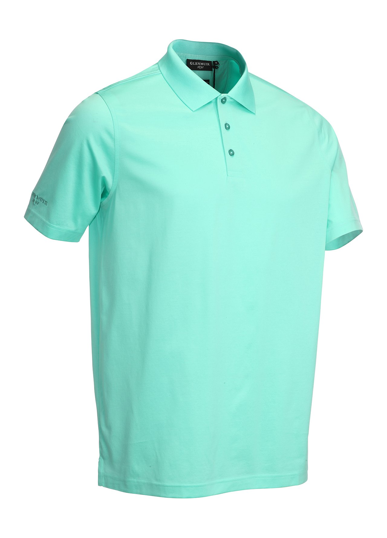 Glenmuir mercerised golf polo shirt spearmint extra large