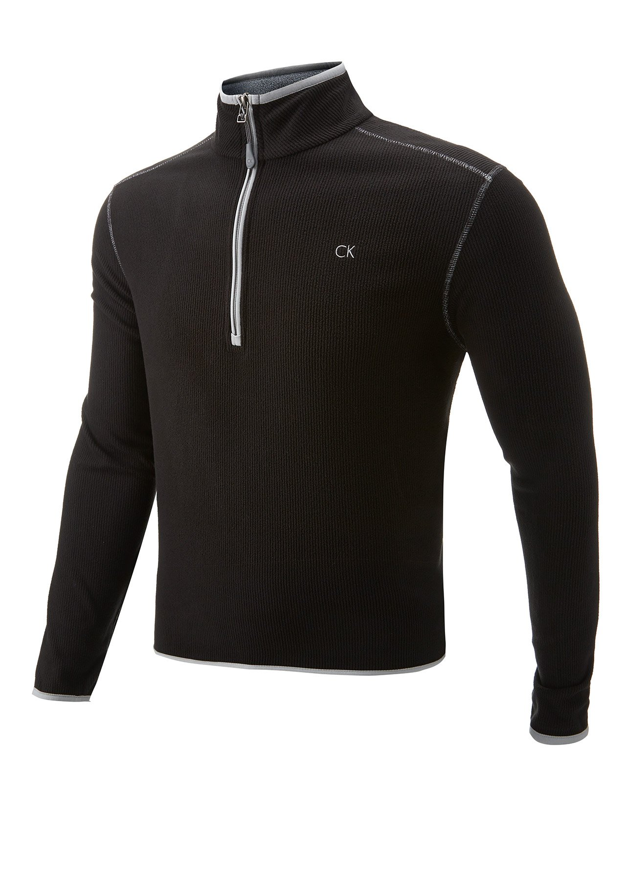 golf clothing sweaters black calvin klein fleece lined golf pullover b664 from county golf. Black Bedroom Furniture Sets. Home Design Ideas