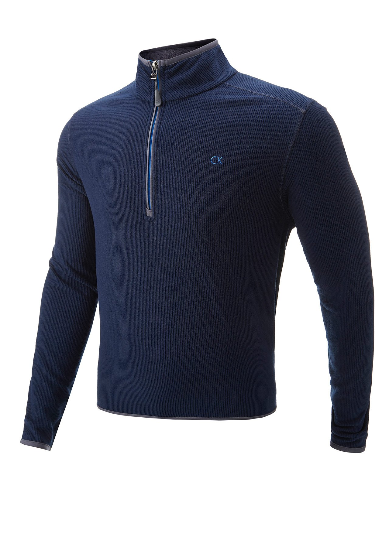 navy calvin klein fleece lined golf pullover b664 from county golf. Black Bedroom Furniture Sets. Home Design Ideas