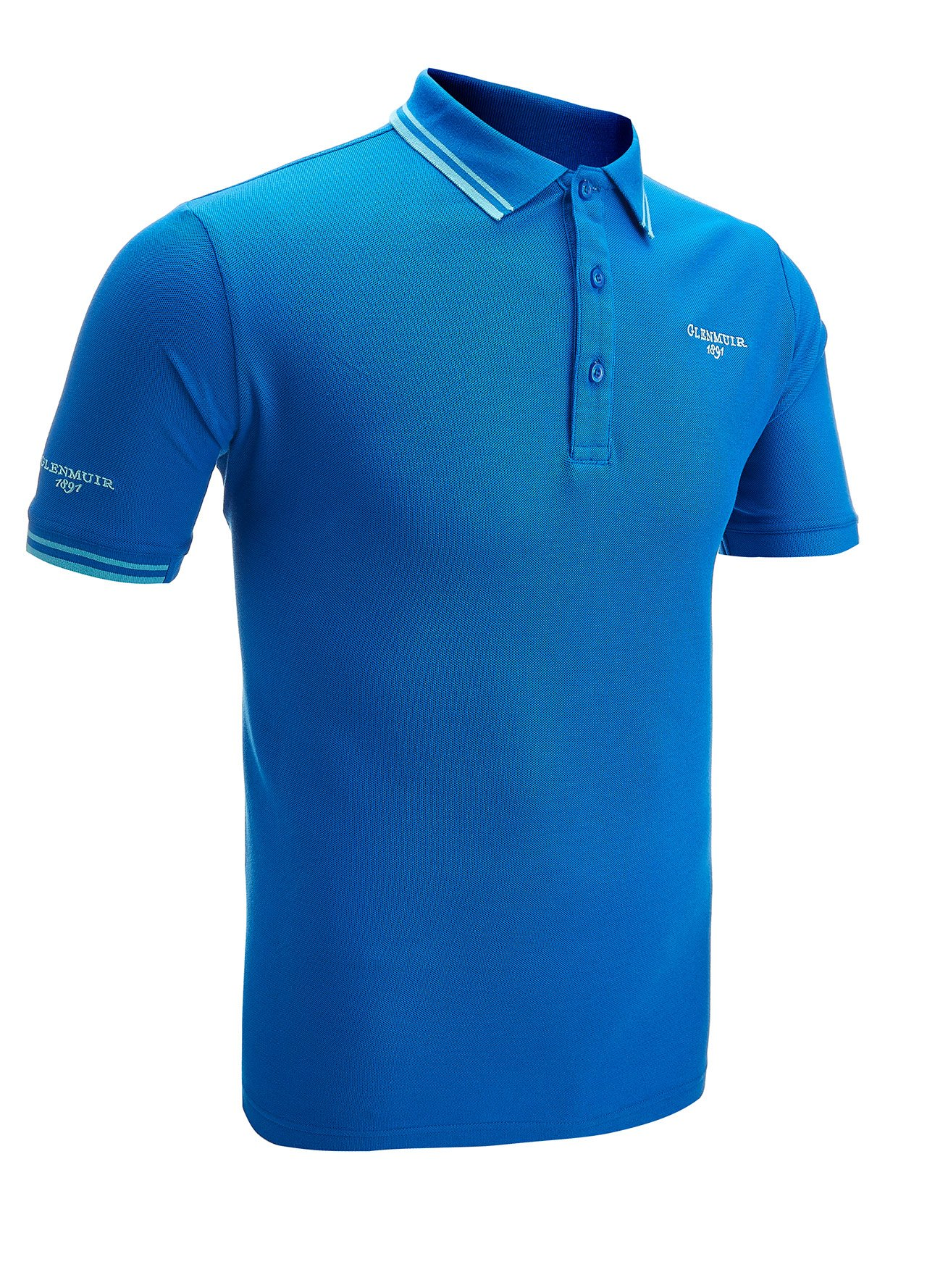 glenmuir mens tipped collar sports golf polo shirt top ebay