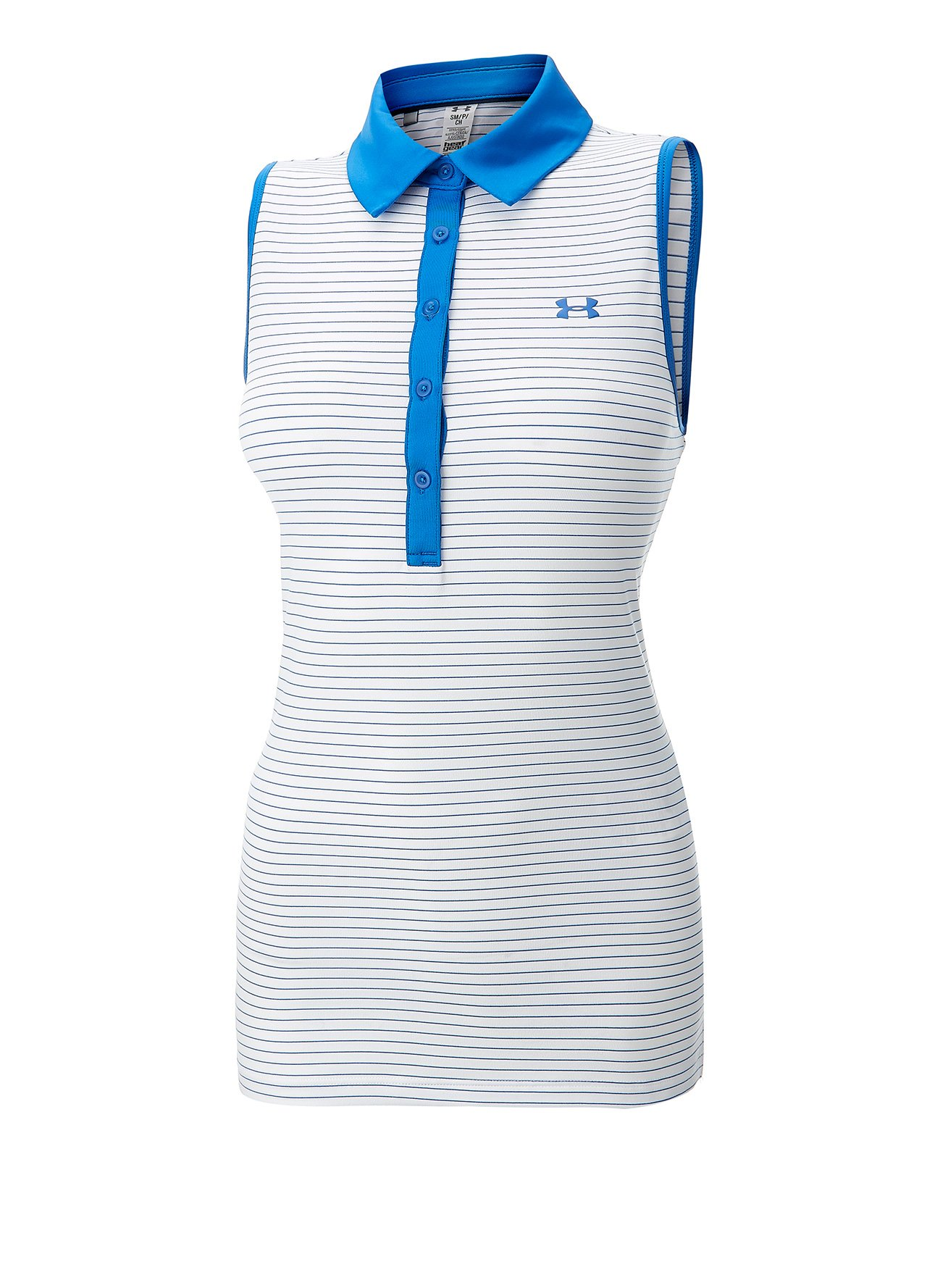 White under armour ladies sleeveless golf polo shirt d164 for Ladies sleeveless golf polo shirts