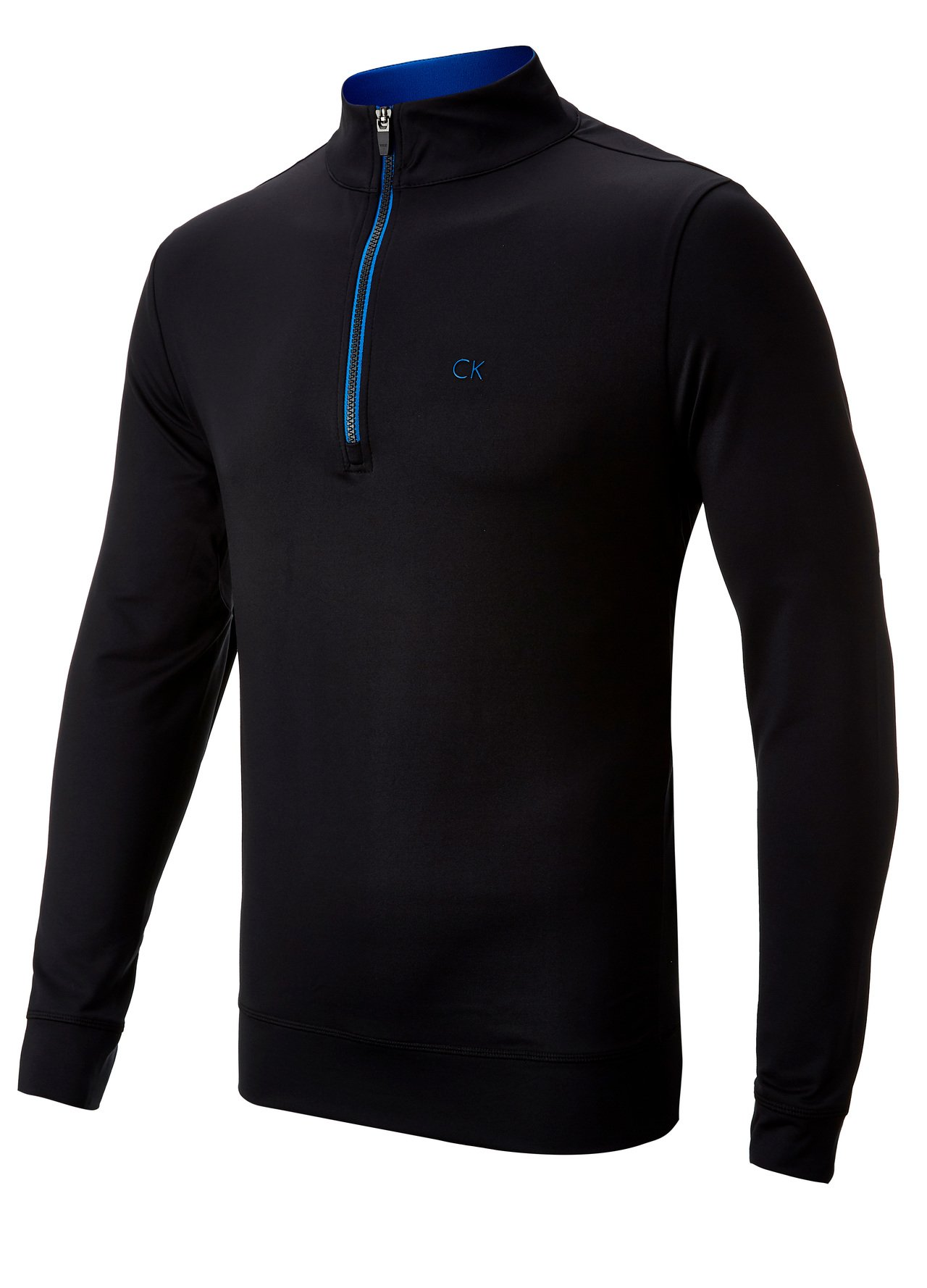 calvin klein px4 performance golf pullover black blue medium ebay. Black Bedroom Furniture Sets. Home Design Ideas