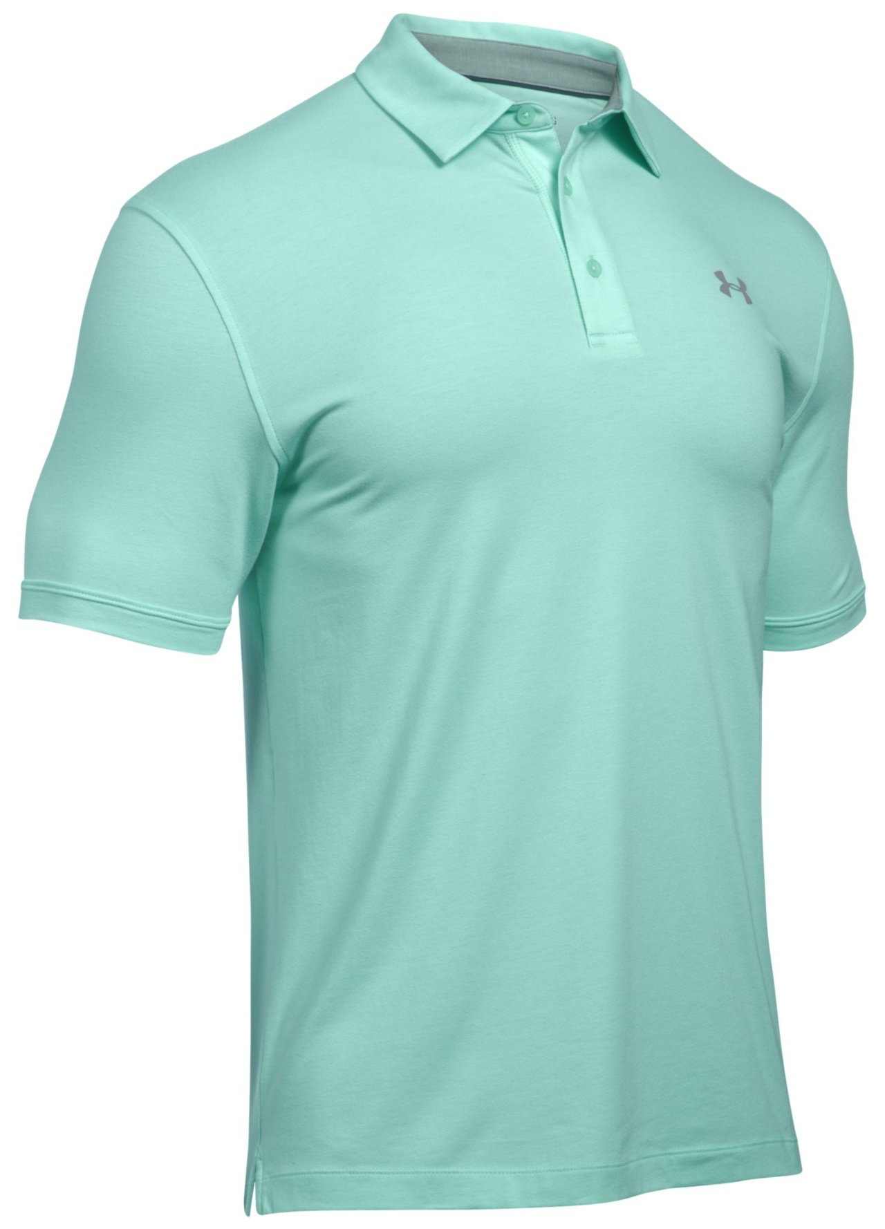 Under armour charged cotton golf polo shirt mint small ebay for Under armour charged shirt