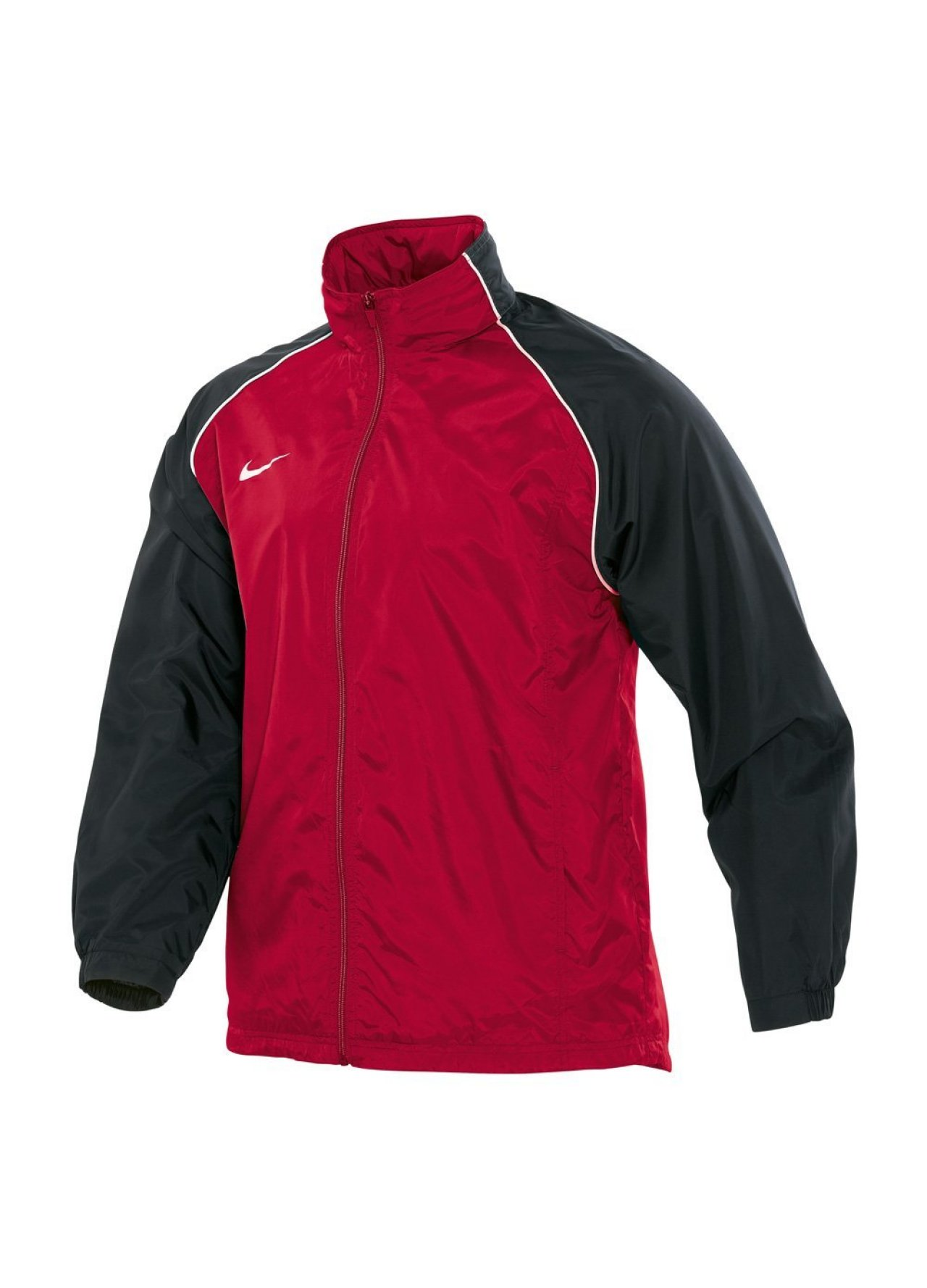 nike outerwear red nike full zip hooded rain jacket. Black Bedroom Furniture Sets. Home Design Ideas