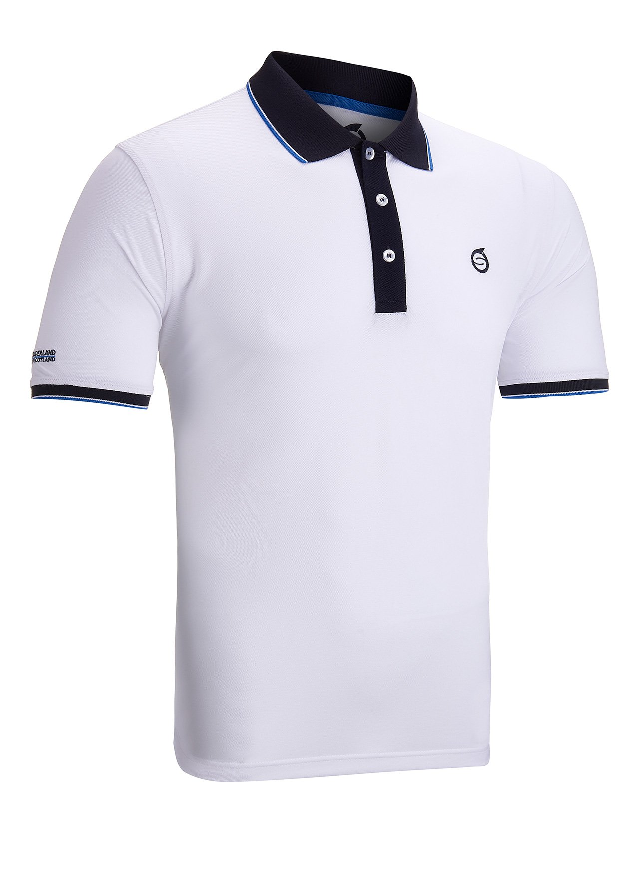 Sunderland classic golf polo shirt white medium ebay