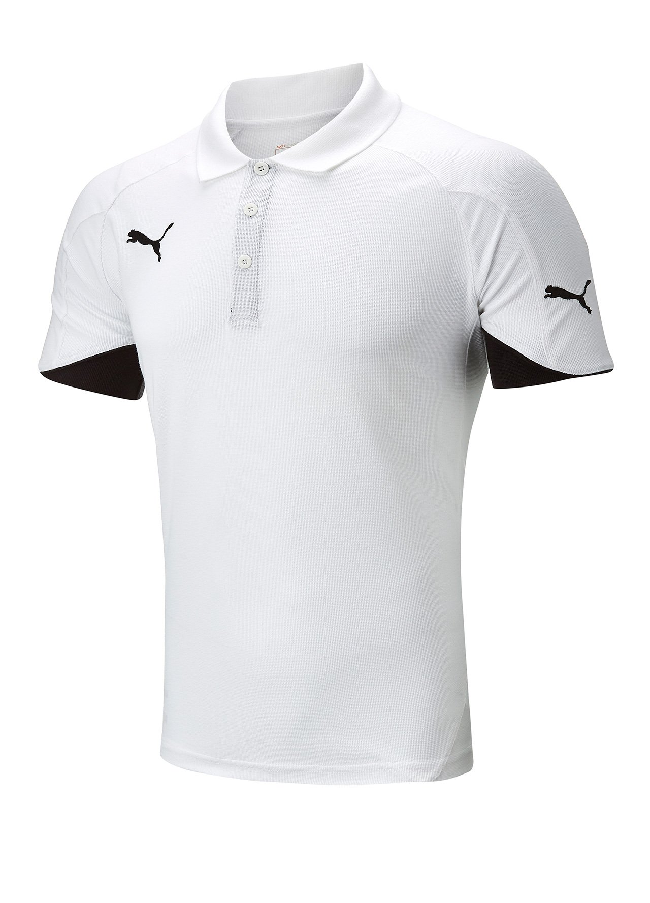 Puma powercat golf polo shirt white medium ebay